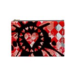Love Heart Splatter Cosmetic Bag (Medium)