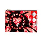 Love Heart Splatter Cosmetic Bag (Large)