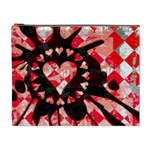 Love Heart Splatter Cosmetic Bag (XL)