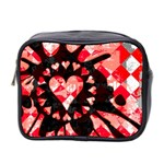 Love Heart Splatter Mini Toiletries Bag (Two Sides)