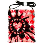 Love Heart Splatter Shoulder Sling Bag