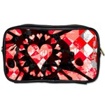 Love Heart Splatter Toiletries Bag (Two Sides)