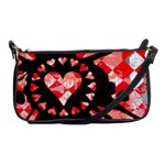 Love Heart Splatter Shoulder Clutch Bag