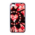 Love Heart Splatter Apple iPhone 4 Case (Black)