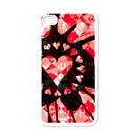 Love Heart Splatter Apple iPhone 4 Case (White)
