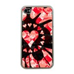 Love Heart Splatter Apple iPhone 4 Case (Clear)