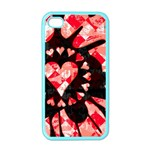Love Heart Splatter Apple iPhone 4 Case (Color)