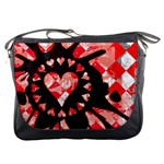 Love Heart Splatter Messenger Bag