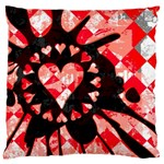 Love Heart Splatter Large Cushion Case (Two Sides)