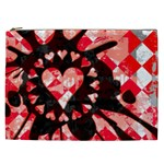 Love Heart Splatter Cosmetic Bag (XXL)
