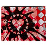 Love Heart Splatter Cosmetic Bag (XXXL)