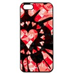 Love Heart Splatter Apple iPhone 5 Seamless Case (Black)