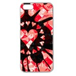Love Heart Splatter Apple Seamless iPhone 5 Case (Clear)