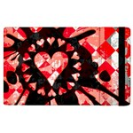Love Heart Splatter Apple iPad 3/4 Flip Case