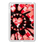 Love Heart Splatter Apple iPad Mini Case (White)