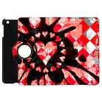 Love Heart Splatter Apple iPad Mini Flip 360 Case