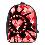 Love Heart Splatter School Bag (XL)