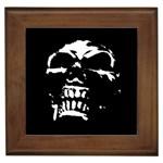 Morbid Skull Framed Tile