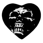Morbid Skull Ornament (Heart)