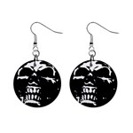 Morbid Skull 1  Button Earrings