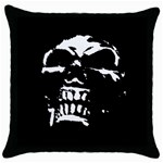Morbid Skull Throw Pillow Case (Black)