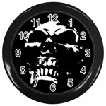 Morbid Skull Wall Clock (Black)