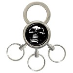 Morbid Skull 3-Ring Key Chain