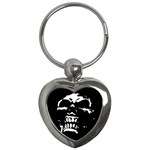 Morbid Skull Key Chain (Heart)