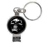 Morbid Skull Nail Clippers Key Chain