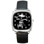 Morbid Skull Square Metal Watch