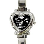 Morbid Skull Heart Italian Charm Watch