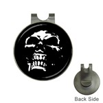 Morbid Skull Golf Ball Marker Hat Clip