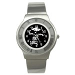 Morbid Skull Stainless Steel Watch