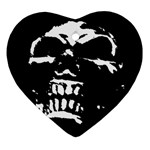 Morbid Skull Heart Ornament (Two Sides)