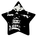Morbid Skull Star Ornament (Two Sides)