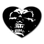 Morbid Skull Mousepad (Heart)