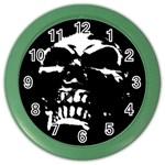Morbid Skull Color Wall Clock