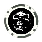 Morbid Skull Poker Chip Card Guard
