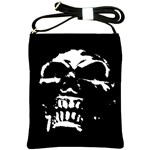 Morbid Skull Shoulder Sling Bag