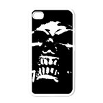 Morbid Skull Apple iPhone 4 Case (White)
