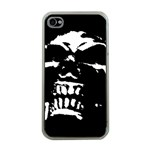 Morbid Skull Apple iPhone 4 Case (Clear)
