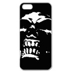 Morbid Skull Apple Seamless iPhone 5 Case (Clear)