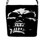 Morbid Skull Flap Closure Messenger Bag (Large)