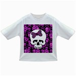 Pink Polka Dot Bow Skull Infant/Toddler T-Shirt