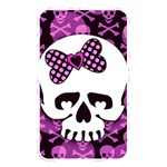 Pink Polka Dot Bow Skull Memory Card Reader (Rectangular)