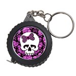 Pink Polka Dot Bow Skull Measuring Tape