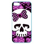 Pink Polka Dot Bow Skull Apple Seamless iPhone 5 Case (Color)
