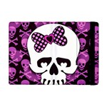 Pink Polka Dot Bow Skull Apple iPad Mini Flip Case