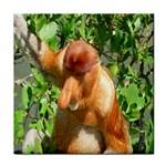 Proboscis Big Nose Monkey Tile Coaster
