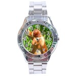 Proboscis Big Nose Monkey Stainless Steel Analogue Men's Watch